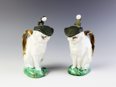11. Two arre miniature Mintons majolica cat jugs SOLD for £900 - April 2018