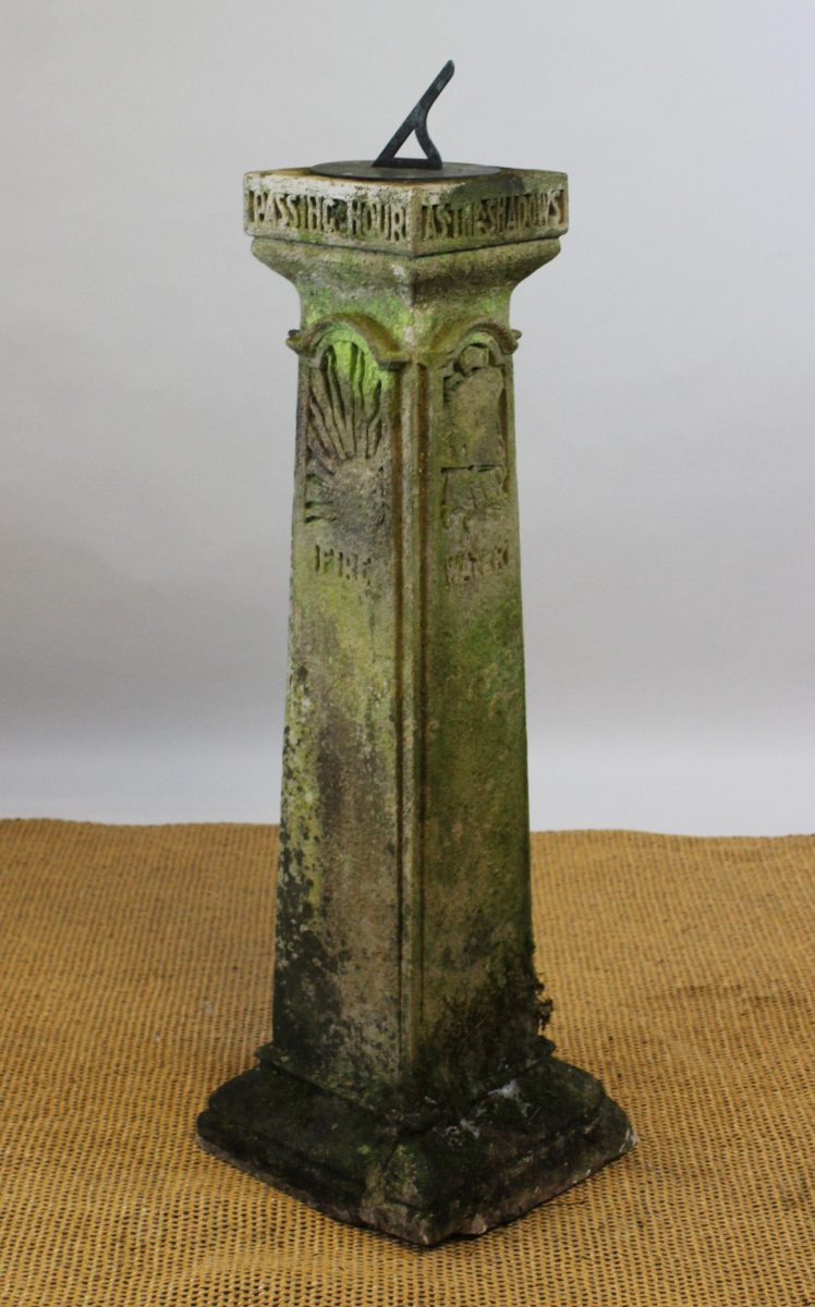 15. A Liberty & Co style reconstituted stone sun dial SOLD for £1,500 - March 2018