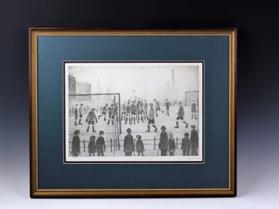 17. Lawrence Stephen Lowry 'The Football Match' print SOLD for £1,900 - February 2018