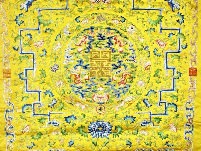 20. A Chinese throne cover circa 1800 SOLD for £6,500