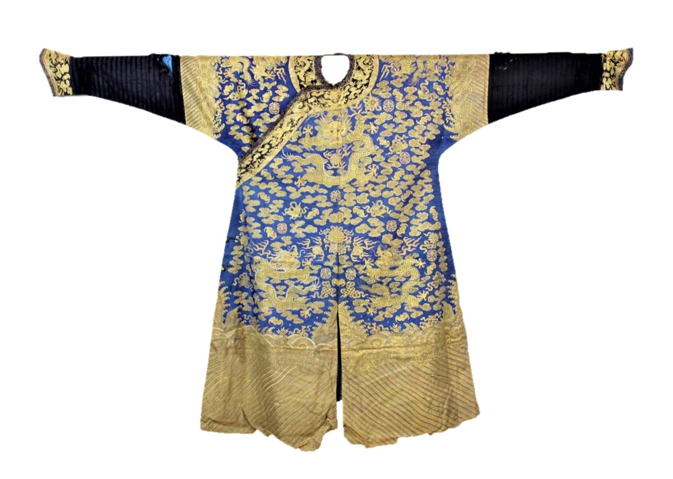 21. A Chinese dragon court robe SOLD for £4,400
