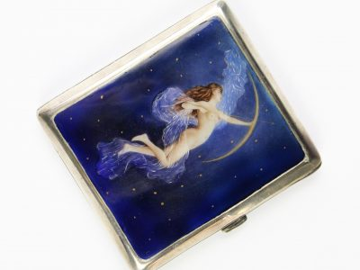 23. An enamelled cigarette case Vienna circa 1930 SOLD for £1,250
