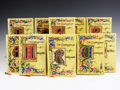24. A collection of twelve illuminated vellum bindings SOLD for £,200