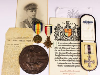 28. A WWI Military Cross group to Captain Horace William Harriman SOLD for £1,500