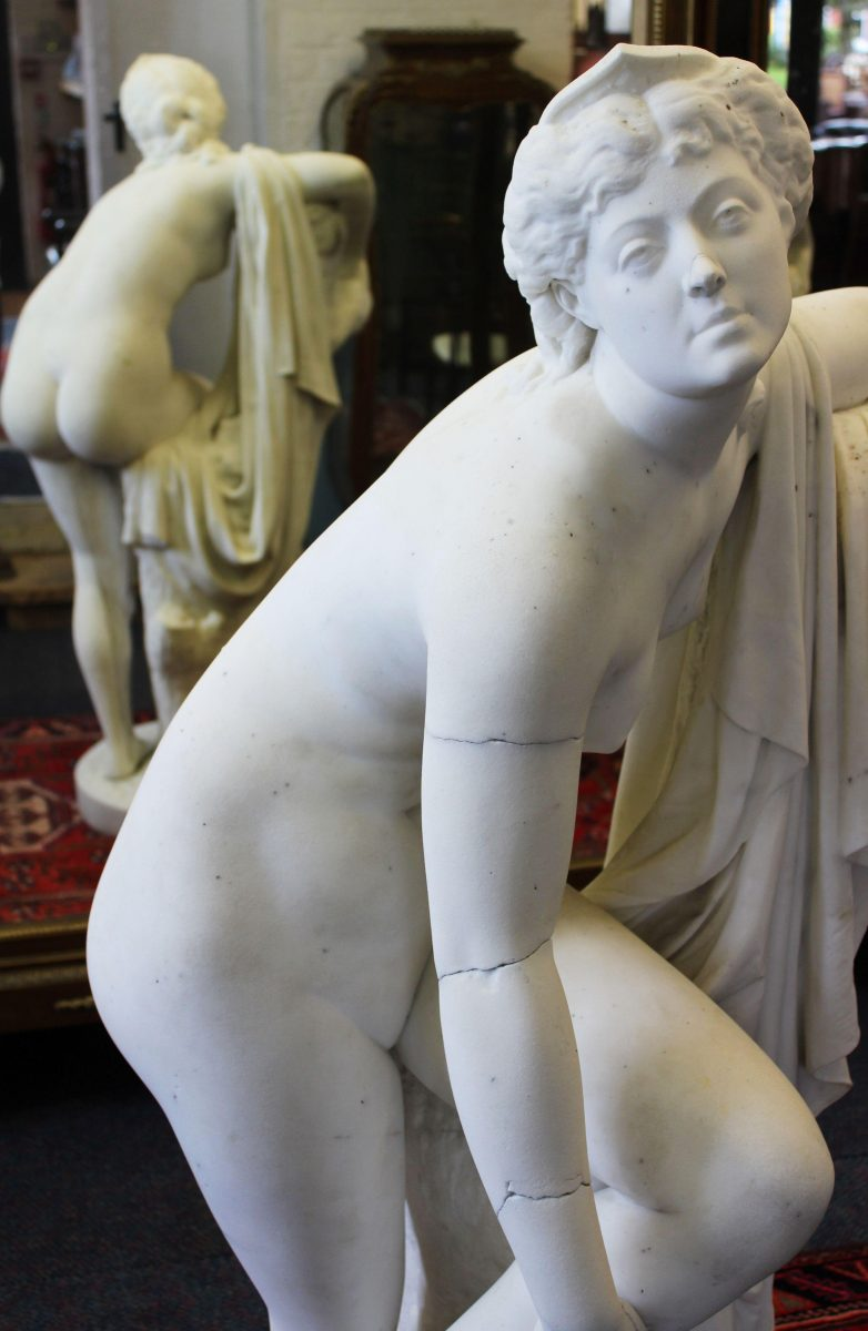 32. Attributed to Joseph Edgar Boehm a carved marble statue SOLD for £6,600