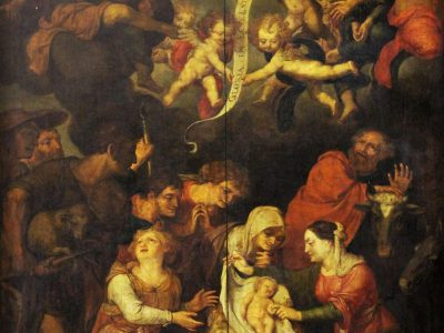 33. Flemish school 17th century adoration of the shepherds SOLD for £5,500