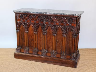 7. A walnut side cabinet with walnut top SOLD for £1,400 - May 2018